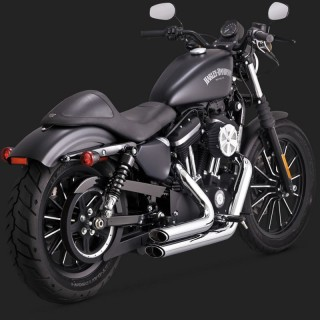 VANCE HINES SHORTSHOTS STAGGERED CHROME EXHAUST HARLEY SPORTSTER XL 14-19