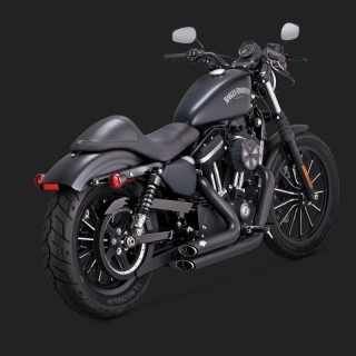 VANCE HINES SHORTSHOTS STAGGERED BLACK EXHAUST HARLEY SPORTSTER XL 14-19