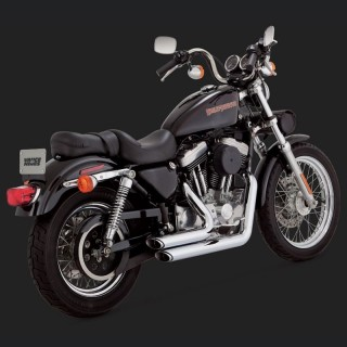 VANCE HINES SHORTSHOTS STAGGERED CHROME EXHAUST HARLEY SPORTSTER XL 99-03