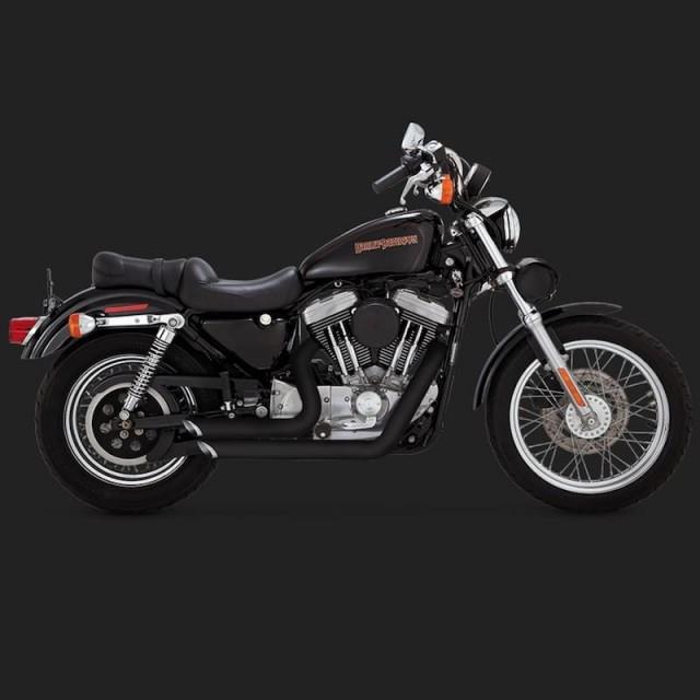 VANCE HINES SHORTSHOTS STAGGERED BLACK EXHAUST HARLEY SPORTSTER XL 99 03
