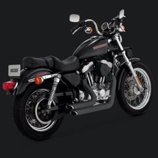 VANCE HINES SHORTSHOTS STAGGERED BLACK EXHAUST HARLEY SPORTSTER XL 99-03