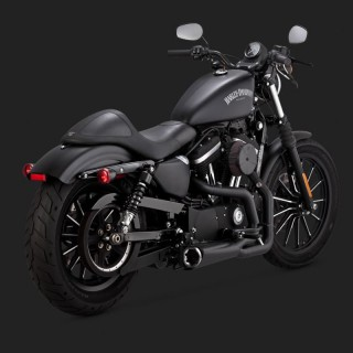 VANCE HINES COMPETITION SERIES 2-IN1 BLACK EXHAUST HARLEY SPORTSTER XL 14-19