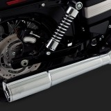 VANCE HINES SHORTSHOTS STAGGERED CHROME EXHAUST HARLEY DYNA 12-17 - DETAIL