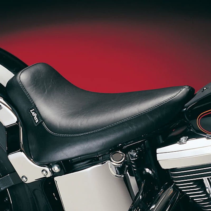 SELLA LE PERA SILHOUETTE SMOOTH SOLO SEAT HARLEY SOFTAIL 00-07