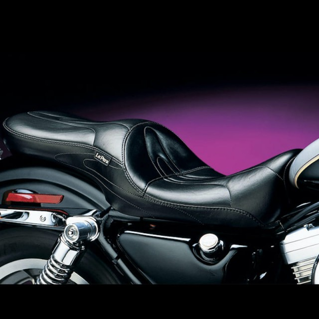 LE PERA SORRENTO LT STITCH 2-UP FULL LENGTH SEAT HARLEY SPORTSTER 86-03