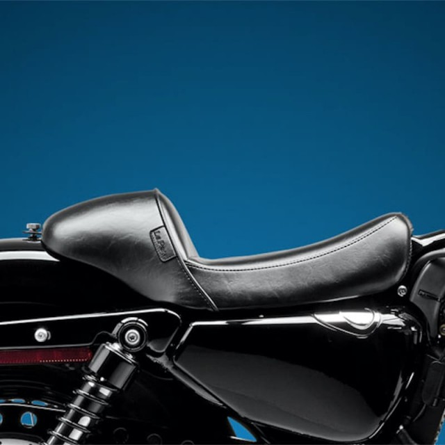 LE PERA STUBS CAFE SOLO SMOOTH SEAT HARLEY SPORTSTER 2004-2020