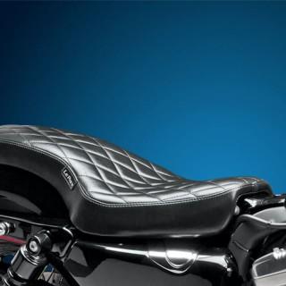 SELLA LE PERA COBRA DIAMOND FULL LENGTH SEAT HARLEY SPORTSTER XL 04-19