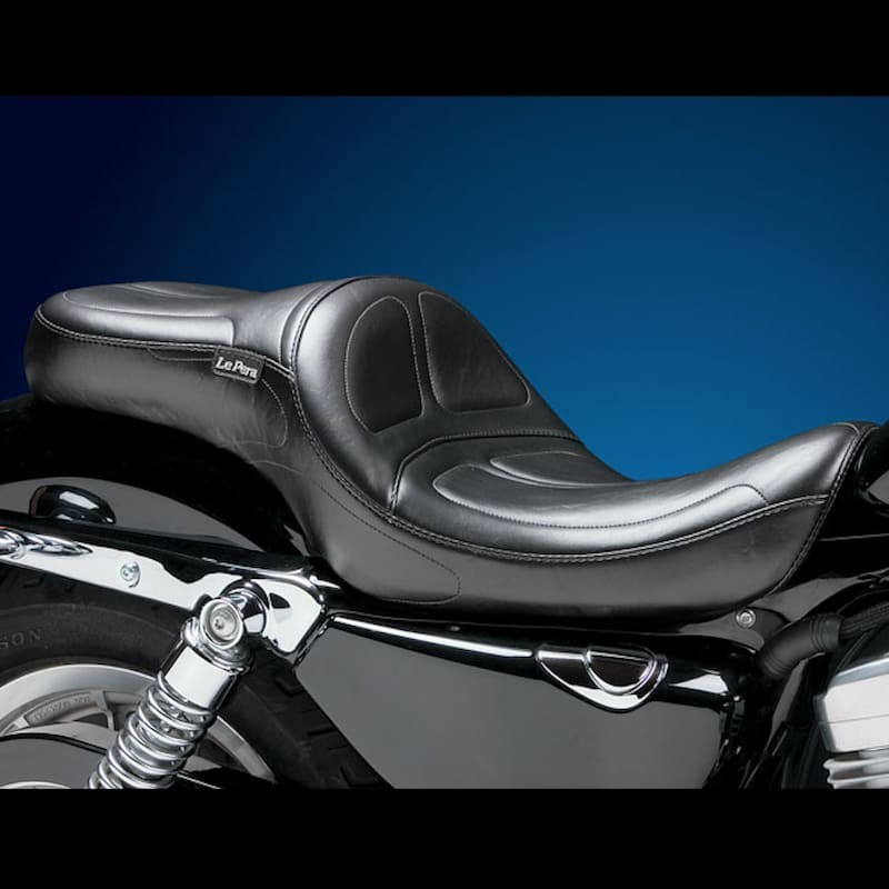 SELLA LE PERA MAVERICK TWO UP SMOOTH SEAT HARLEY SPORTSTER XL 04-19 17 LITRI