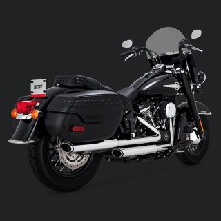 VANCE HINES TWIN SLASH 3'' SLIP-ON MUFFLERS HARLEY SOFTAIL DELUXE-HERITAGE 18-19