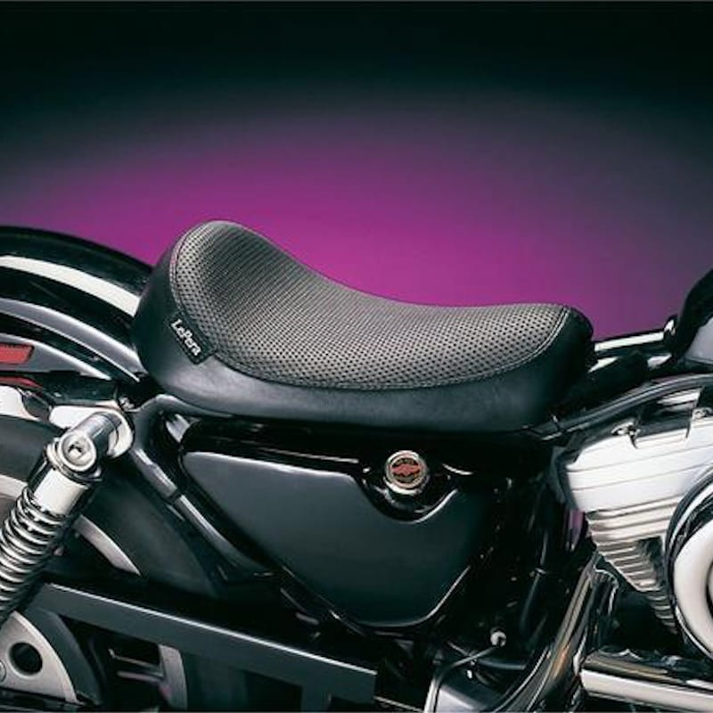 LE PERA SILHOUETTE BASKET WEAVE SOLO SEAT HARLEY SPORTSTER XL 86-03