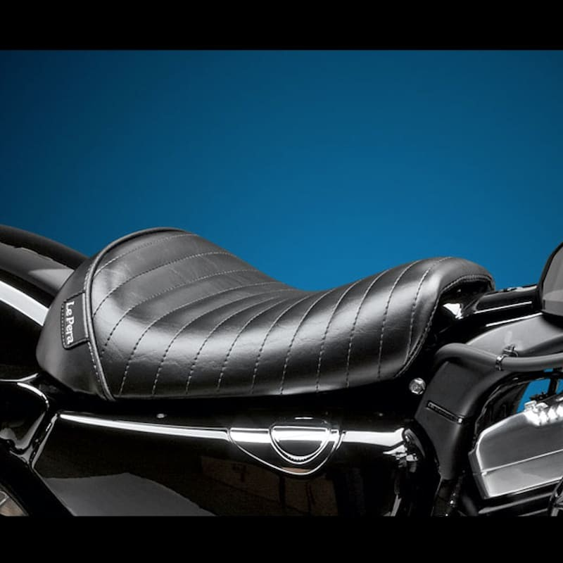 LE PERA BARE BONES PLEATED SEAT HARLEY SPORTSTER XL 1200