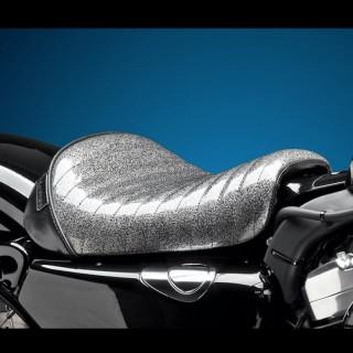 SELLA LE PERA BARE BONES PLEATED CHARCOAL METAL FLAKE SEAT HARLEY SPORTSTER XL 1200