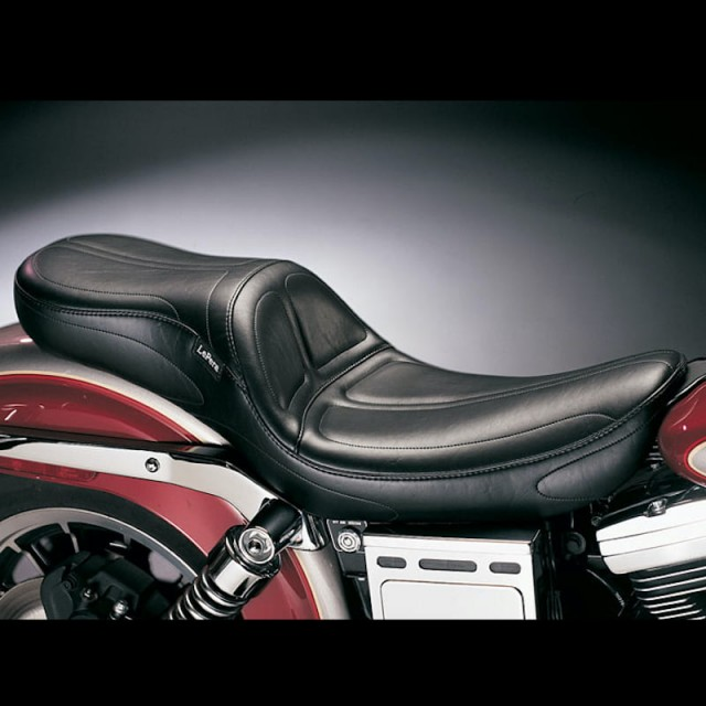 LE PERA MAVERICK 2-UP STITCH SEAT HARLEY DYNA
