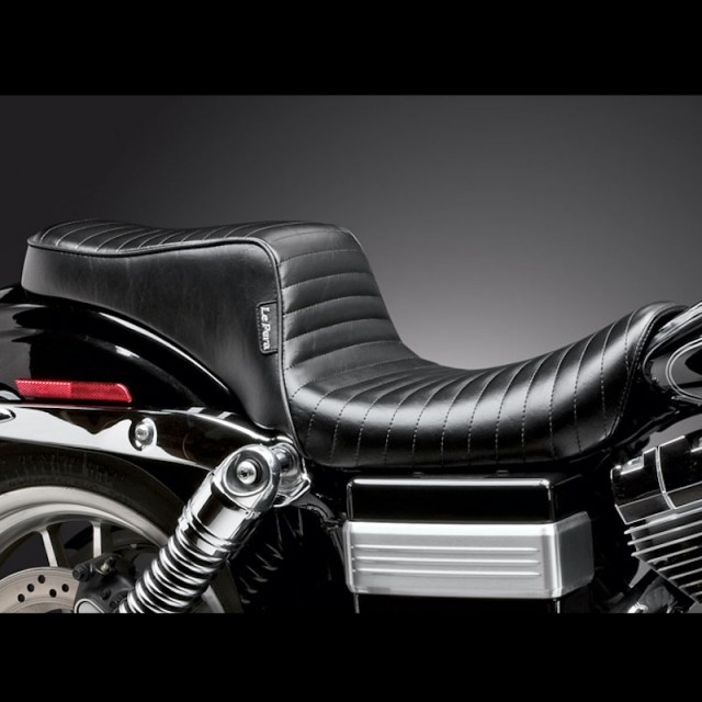 SELLA LE PERA CHEROKEE 2 UP PLEATED SEAT HARLEY DYNA WIDE GLIDE