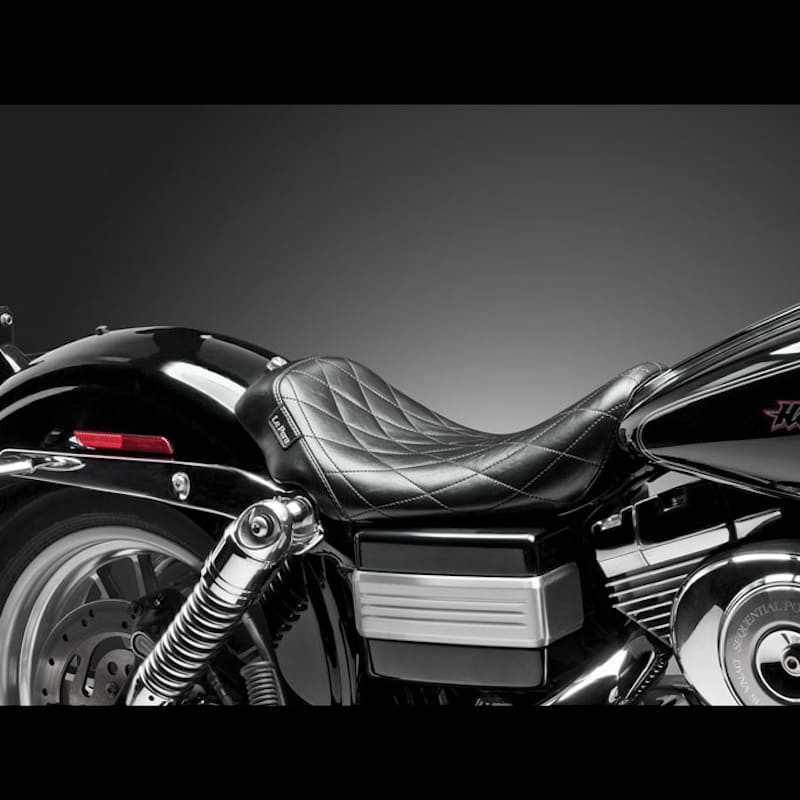 Le Pera LN-003 Smooth Vinyl Bare Bones Solo Seat for Harley 96-03 Dyna FXDWG