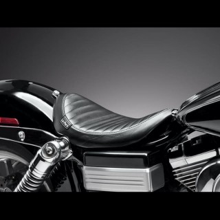 SELLA LE PERA LIL NUGGET PLEATED SEAT HARLEY DYNA