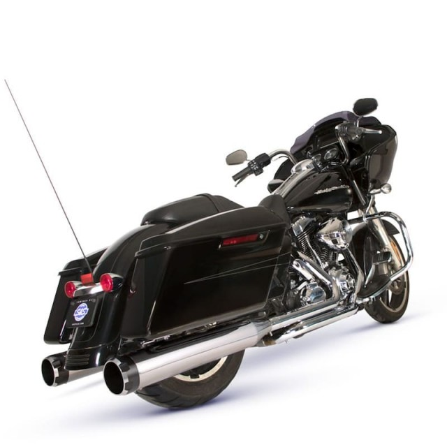 S&S EL DORADO TRUE DUAL CHROME THRUSTER CAPS EXHAUST SYSTEM HARLEY TOURING