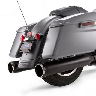 TERMINALI S&S MK45 SLIP-ON NERI CON THRUSTER CAPS NERI HARLEY TOURING
