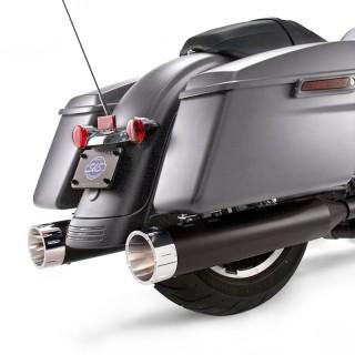 TERMINALI S&S MK45 SLIP-ON NERI CON TRACER CAPS CROMO HARLEY TOURING
