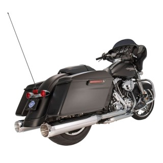 S&S MK45 CHROME SLIP-ON MUFFLERS WITH CHROME THRUSTER CAPS HARLEY TOURING