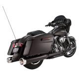 TERMINALI S&S MK45 SLIP-ON NERI CON THRUSTER CAPS CROMO HARLEY TOURING