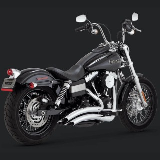 VANCE HINES BIG RADIUS CHROME EXHAUST FOR DYNA 06-17
