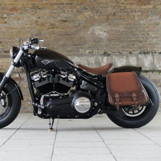 BORSA LATERALE WILD HOG NIGHT RACE HARLEY - MARRONE BRUSH