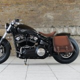 WILD HOG NIGHT RACE SIDEBAG HARLEY - BRUSHED BROWN