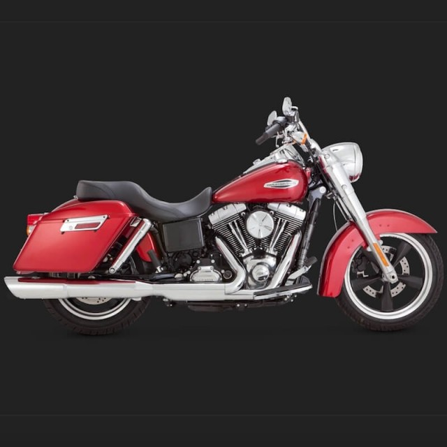 TERMINALE VANCE HINES TWIN SLASH 2-IN-1 HARLEY DYNA SWITCHBACK/LOWRIDER - LATO