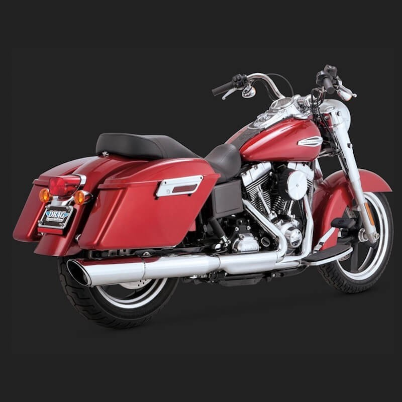 TERMINALE VANCE HINES TWIN SLASH 2-IN-1 HARLEY DYNA SWITCHBACK/LOWRIDER