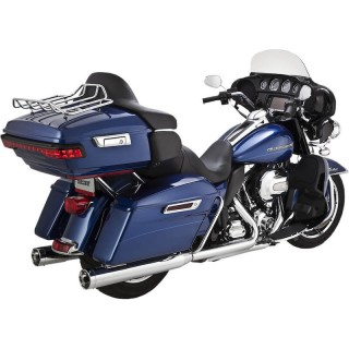 VANCE HINES EC MONSTER ROUND CHROME SLIP-ONS HARLEY TOURING 2009-2016