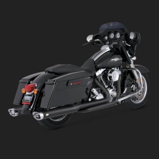 VANCE HINES EC MONSTER OVAL BLACK SLIP-ONS HARLEY TOURING 2009-2016