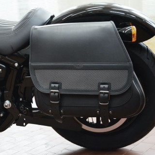 BORSA LATERALE WILD HOG NIGHT RACE CARBON HARLEY - ZOOM