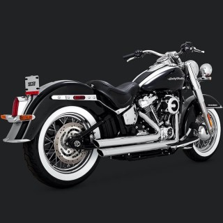 VANCE & HINES BIG SHOTS STAGGERED CHROME EXHAUST HARLEY SOFTAIL 2018-2020