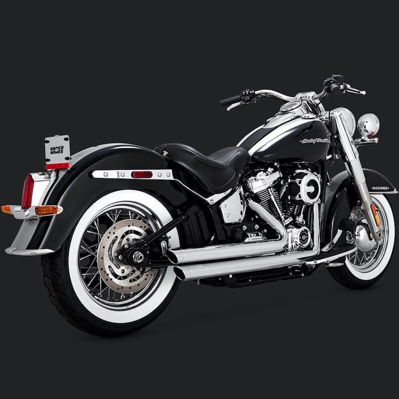 VANCE & HINES BIG SHOTS STAGGERED CHROME EXHAUST HARLEY SOFTAIL 2018-2021