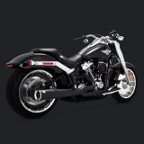VANCE & HINES PRO PIPE BLACK EXHAUST HARLEY SOFTAIL FAT BOY-BREAKOUT 2018-2021