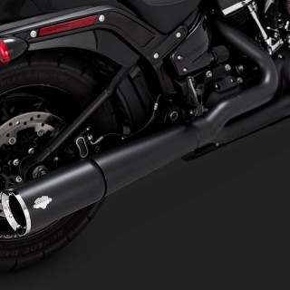 VANCE & HINES PRO PIPE BLACK EXHAUST FOR HARLEY SOFTAIL 2018-2020