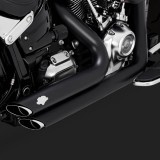 VANCE HINES SHORTSHOTS STAGGERED BLACK EXHAUST HARLEY SOFTAIL FAT BOY,KING,BREAKOUT 2018-2020 - DETAIL