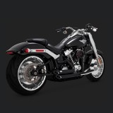 VANCE HINES SHORTSHOTS STAGGERED BLACK EXHAUST HARLEY SOFTAIL FAT BOY,KING,BREAKOUT 2018-2020
