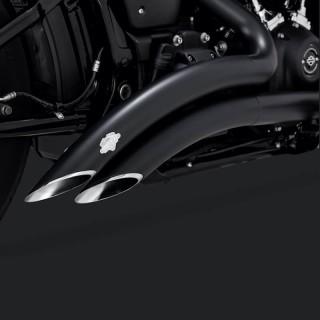 SCARICHI VANCE HINES BIG RADIUS 2 IN 2 BLACK HARLEY SOFTAIL 2018-2021
