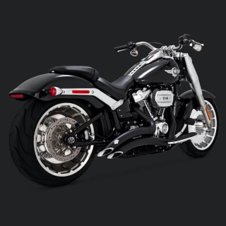 VANCE HINES BIG RADIUS BLACK EXHAUST HARLEY SOFTAIL FAT BOY-BREAKOUT