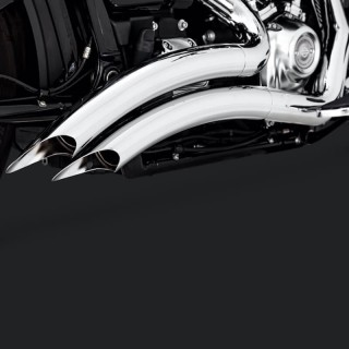 VANCE HINES BIG RADIUS CHROME EXHAUST HARLEY SOFTAIL FAT BOY-KING-BREAKOUT