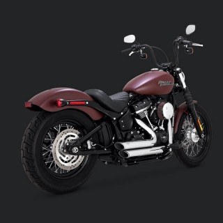VANCE HINES SHORTSHOTS STAGGERED CHROME EXHAUST SOFTAIL 2018-2021
