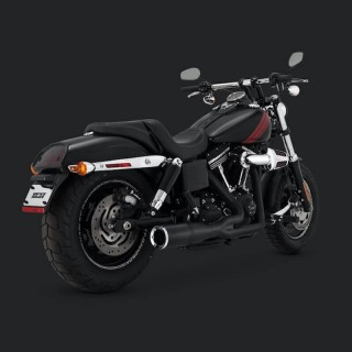 SCARICO VANCE HINES HI-OUTPUT SHORT NERO 2-IN-1 HARLEY DYNA 2006-2017