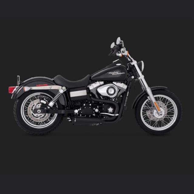 VANCE HINES COMPETITION SERIES 2-IN1 BLACK EXHAUST DYNA 2006-2017 - SIDE