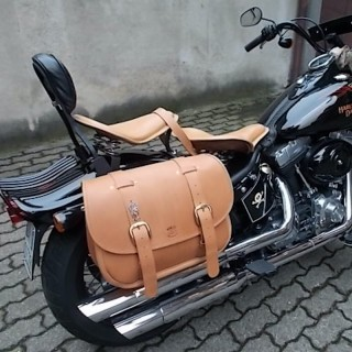 WILD HOG EXPRESS SIDEBAG HARLEY - GENUINE LEATHER