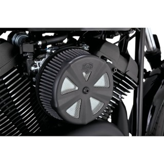 SKULLCAP CROWN MATT BLACK COVER FOR VANCE HINES VO2 AIR CLEANER