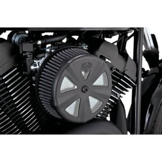 SKULLCAP CROWN MATT BLACK COVER FOR VANCE HINES VO2 AIR CLEANER
