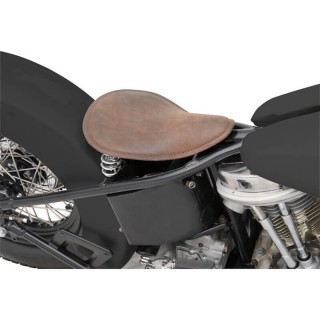 DRAG SPECIALTIES SMALL LOW PROFILE SPRING SEAT BROWN LEATHER