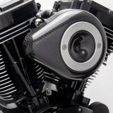 TEARDROP CARBON COVER FOR S&S STEALTH AIR CLEANER - DETAIL